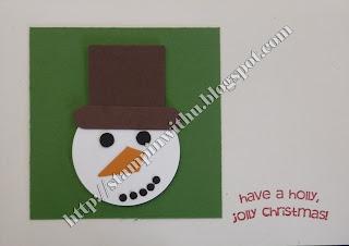 Simple Snowman Punch Art Card