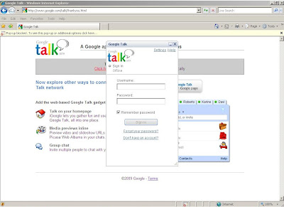 Google Talk installation completed and ready to run.