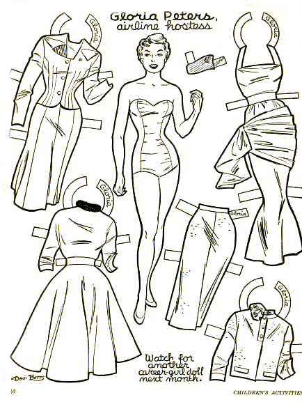 free printable 1950s coloring pages - photo#9
