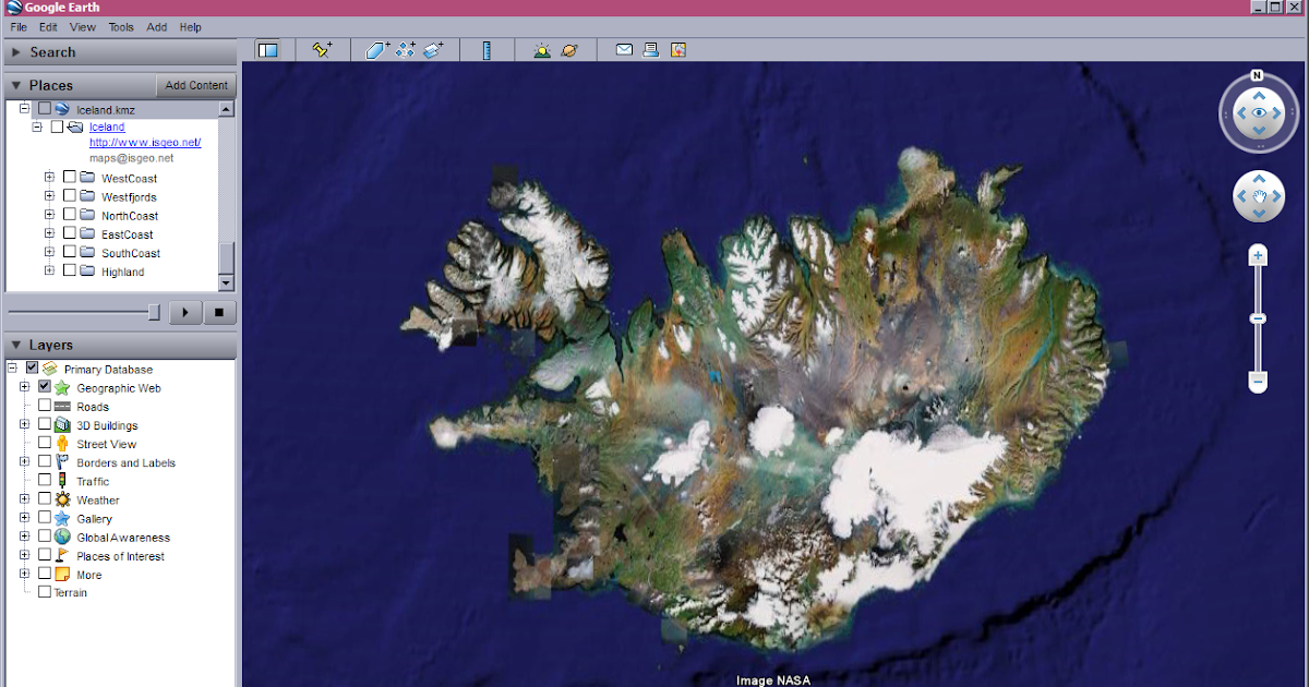 Islandia geomatics map of iceland for google earth and google maps gumiabroncs Gallery