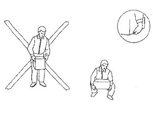 Posicion de los brazos y sugeción