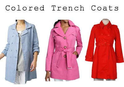 Colored Trench Coats