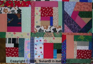 Mile-a-Minute quilt block detail