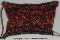 gauge swatch for Grand Sierra knee socks