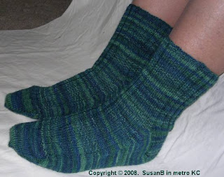 Mom's birthday socks - side view