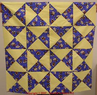 Easy X quilt top