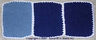 strip of 3 afghan squares