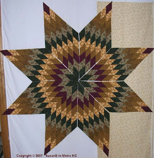 eight points of Lone Star quilt