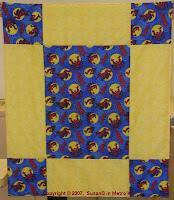 super-sized 9 patch quilt