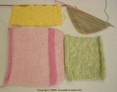 knit dishcloths and potholders