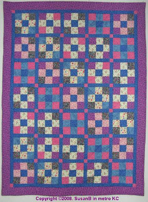 sashed 9 patch quilt
