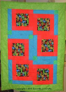 Wonky Block quilt