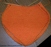 orange knit dishcloth