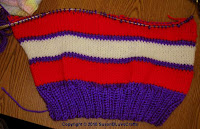 knitted hat in progress