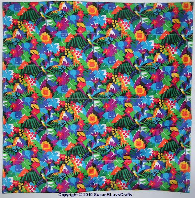 weighted blanket in jungle print