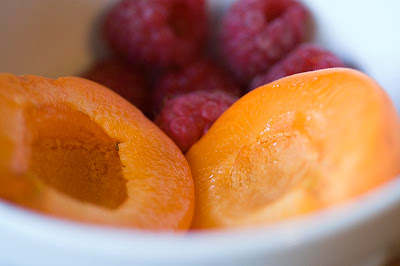 Apricot and Raspberries