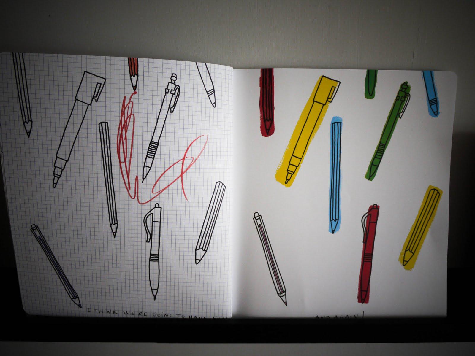 Scribbles Drawing Book : Sponge the scribble book