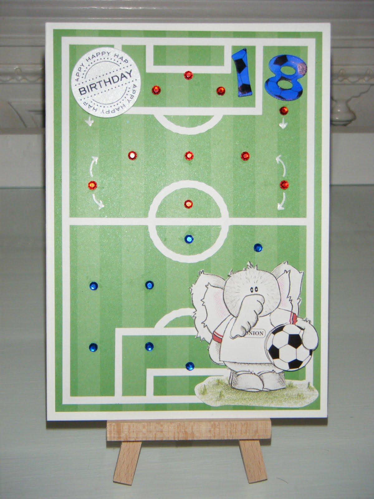 Leia Legweaks Handmade Crafts: 18th Birthday Football Card