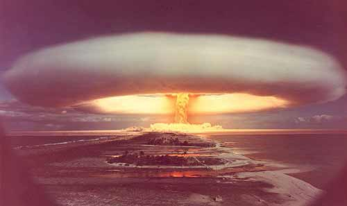 Today I am gonna talk about the atomic bomb: