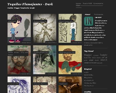Tequilas Flamejantes Dark Blogger Template