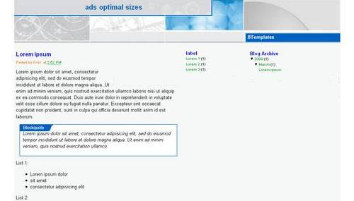 Ads Optimal Size Blogger Template
