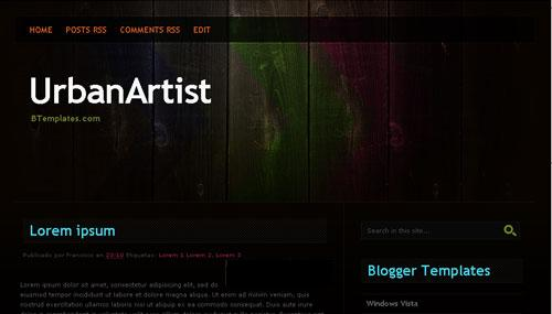 UrbanArtist Blogger Template