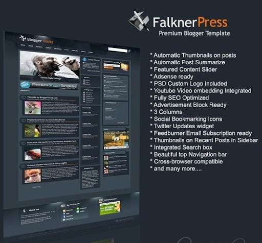 Falkner Press Blogger Template