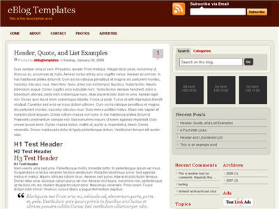 WP-Premium Red Blogger Template