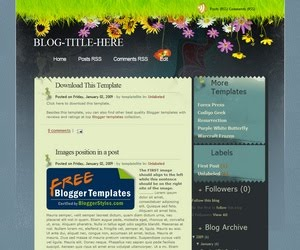 Seabreeze v100 Blogger Template