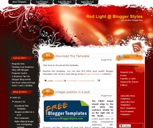 Red Light v100 Blogger Template