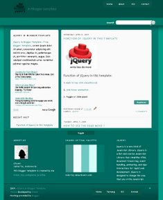 Jquery Blogger Template