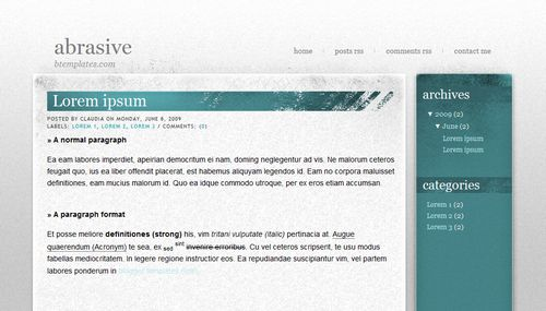 Abrasive Blogger Template
