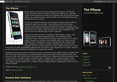 iPhone Blogger Template