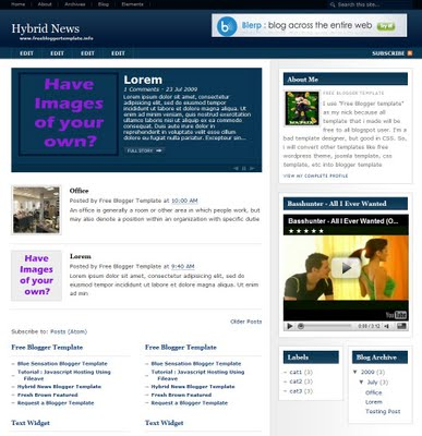 Hybrid News Blogger Template