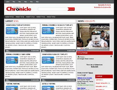 Zinmag Chronicle Blogger Template