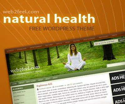 Natural Health Blogger Template