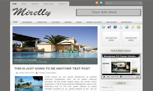 Mirelly Blogger Template