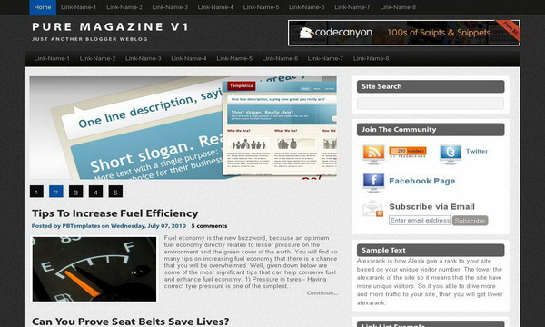 Blogspot Blogger Template