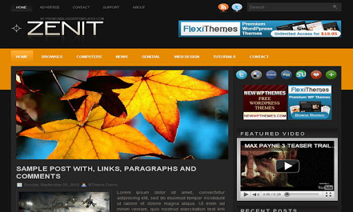 Zenit Blogger Template