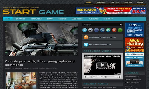 StartGame Blogger Template