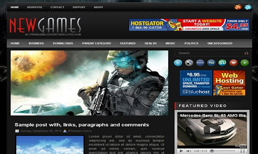 New Games Blogger Template