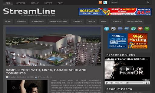 StreamLine Blogger Template