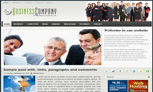 Business Company Blogger Template