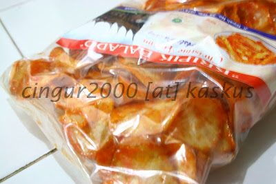 Camilan Padang KRIPIK BALADO BULAT (Close Up)
