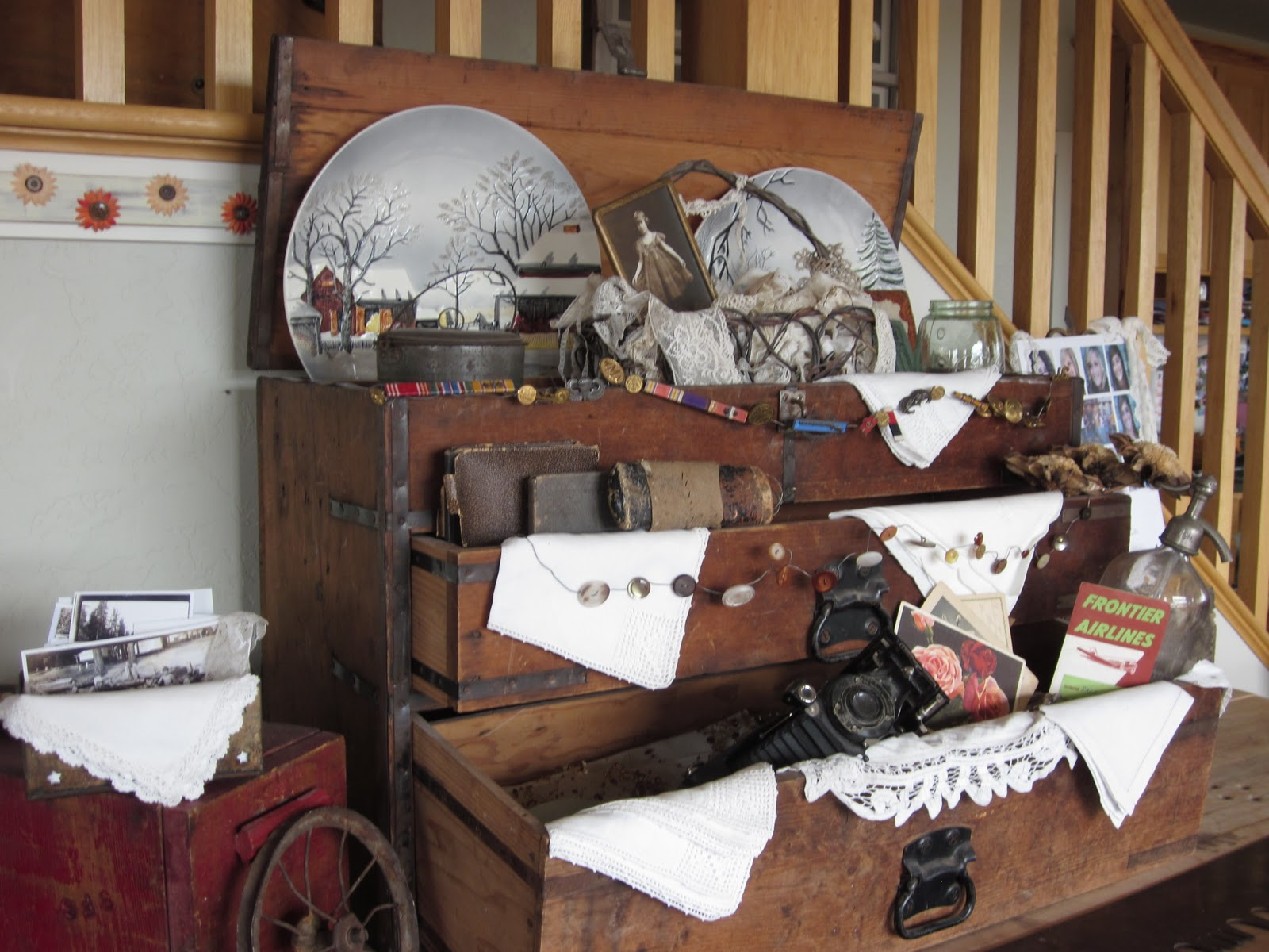 Decorating With Antiques Extraordinary With Decorating with Antique Tool Boxes Photo