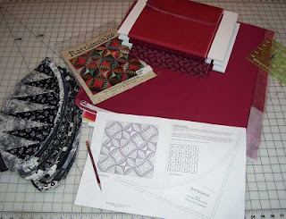 What's on my desk? The Rattlesnake Quilt! Prepping background fabrics today.