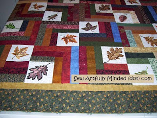 Fabric choices for the borders have been made for the Leaf Quilt.