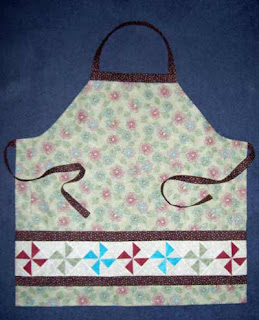 My new apron - made for use in a class - will come in handy for my holiday cooking.