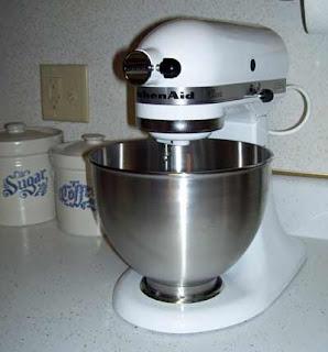 Our new kitchen toy - a KitchenAid brand mixer.