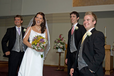 Sam laughing it up with the groomsmen.